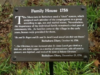 Family House 1758 Marker image. Click for full size.