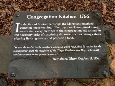Congregation Kitchen 1766 Marker image. Click for full size.
