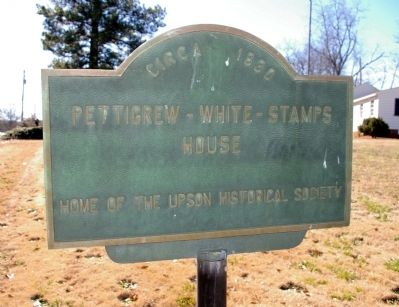 Pettigrew-White-Stamps House Marker, Side 1 image. Click for full size.