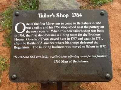 Tailor's Shop 1764 Marker image. Click for full size.