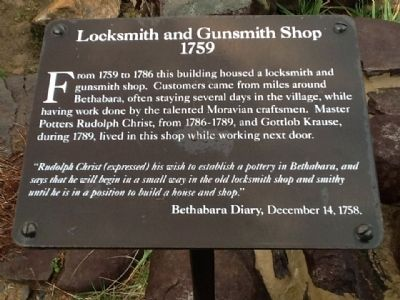 Locksmith and Gunsmith Shop 1759 Marker image. Click for full size.