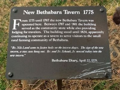 New Bethabara Tavern 1775 Marker image. Click for full size.