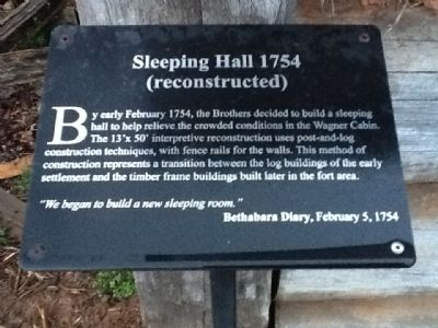 Sleeping Hall 1754 Marker image. Click for full size.