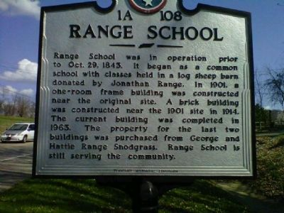 Range School Marker image. Click for full size.