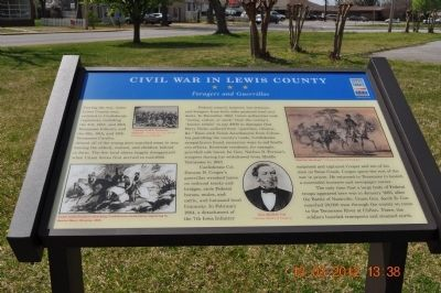 Civil War in Lewis County Marker image. Click for full size.