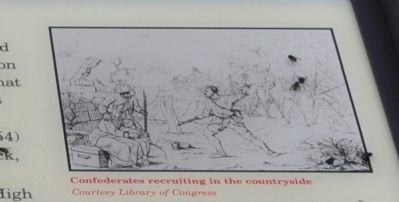 Confederate recruiting in the countryside image. Click for full size.
