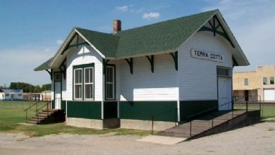 Train Depot Near Ellsworth Marker image. Click for full size.