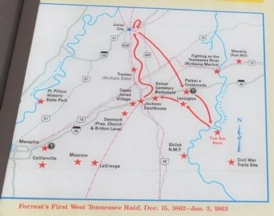 Forrest First West Tennessee Raid Dec. 15, 1862-Jan 3, 1863 image. Click for full size.