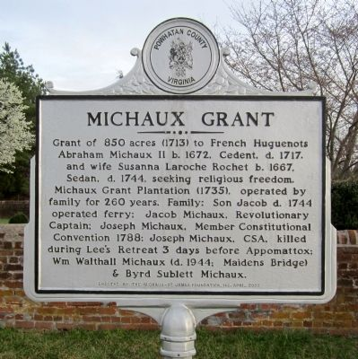 Michaux Grant Marker image. Click for full size.