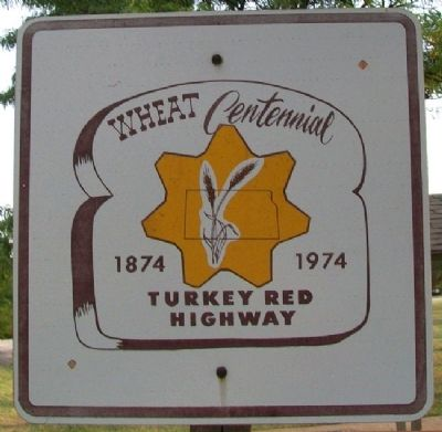 Turkey Red Wheat Highway Sign at Park image. Click for full size.