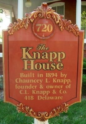 The Knapp House Marker image. Click for full size.