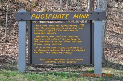Phosphate Mine Marker image. Click for full size.