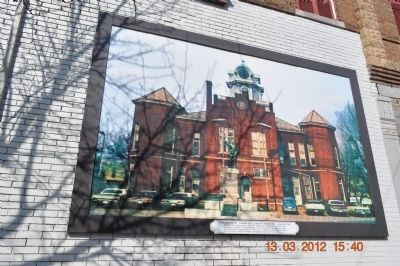 Courthouse - Lawrence County Tennessee - Mural image. Click for full size.