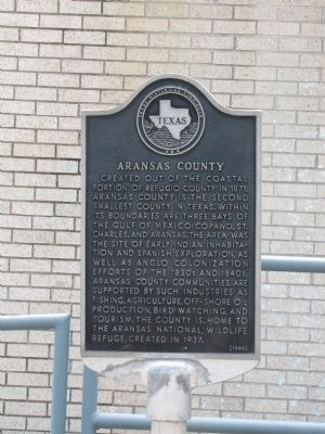 Aransas County Marker image. Click for full size.