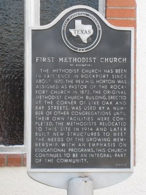 First Methodist Church of Rockport Marker image. Click for full size.