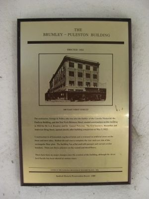 The Brumley - Puleston Building Marker image. Click for full size.