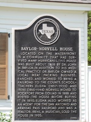Baylor-Norvell House Marker Photo, Click for full size