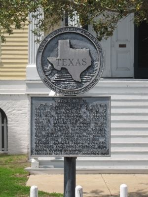 Mathis House Marker image. Click for full size.