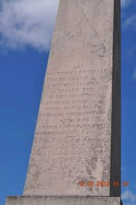 Mexican War Monument (side 3) image. Click for full size.