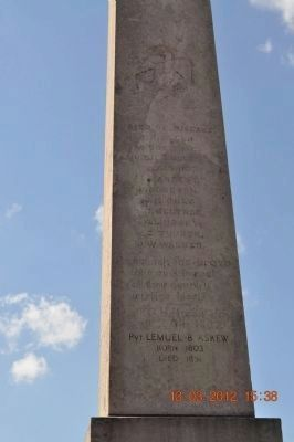 Mexican War Monument (side 4) image. Click for full size.