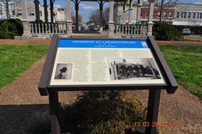 Skirmish at Lawrenceburg Marker image. Click for full size.