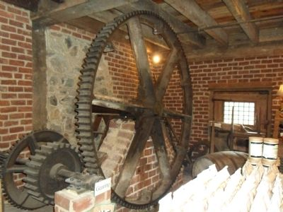 Inside of the Meadow Run Grist Mill image. Click for full size.