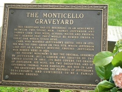 The Monticello Graveyard Marker image. Click for full size.