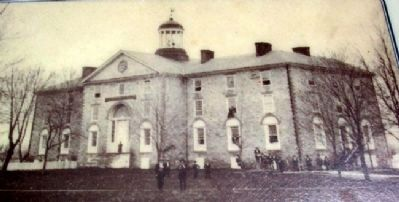Earliest Known Photo of West College image. Click for full size.
