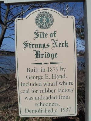 Site of Strongs Neck Bridge Marker image. Click for full size.