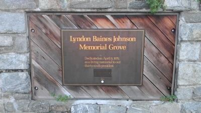 """The Lyndon Baines Johnson Memorial Grove on the Potomac"", west side plaza image. Click for full size."
