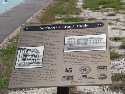 Rockport�s Grand Hotels Marker image. Click for full size.