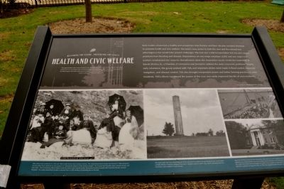 Health and Civic Welfare Marker image. Click for full size.