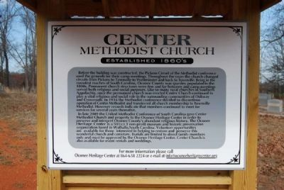 Center Methodist Church Marker image. Click for full size.