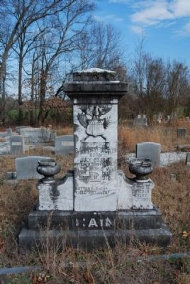 Corporal Sanford S. Cain Tombstone image. Click for full size.