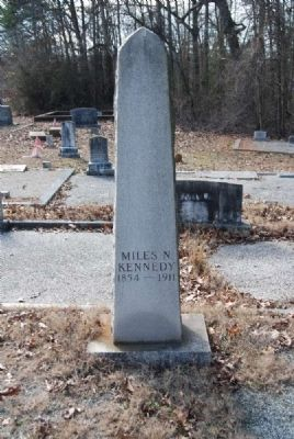 Miles Kennedy Tombstone image. Click for full size.