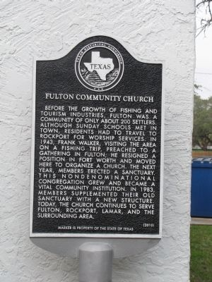 Fulton Community Church Marker image. Click for full size.
