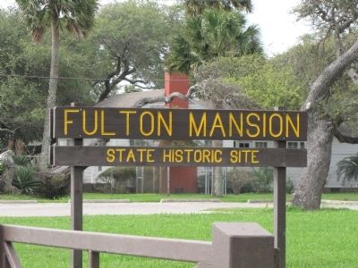 Fulton Mansion Sign seen from Fulton Beach Road image. Click for full size.