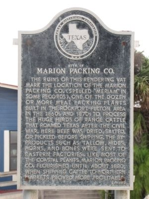 Site of Marion Packing Co. Marker image. Click for full size.