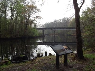 View of the Bridge over Black Mingo Creek from the marker image. Click for full size.