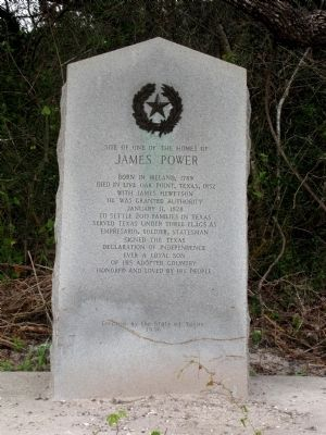 Site of one of the homes of James Power Marker image. Click for full size.