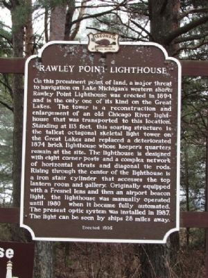 Rawley Point Lighthouse Marker image. Click for full size.