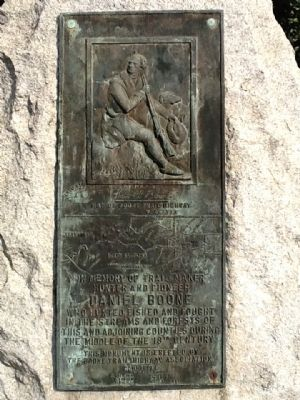 Daniel Boone Trail Marker Photo, Click for full size