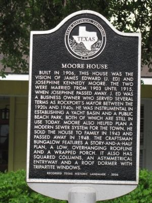 Moore House Marker Photo, Click for full size