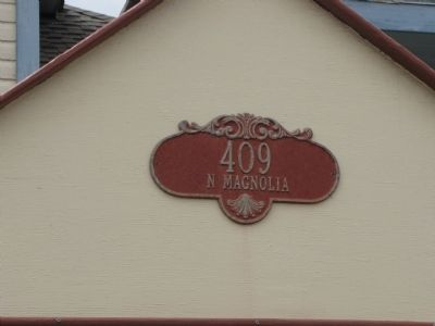 Actual Address of the Bracht House in Rockport image. Click for full size.
