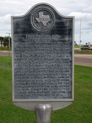 First National Bank of Rockport Marker image. Click for full size.