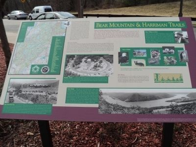 Bear Mountain & Harriman Trails Marker image. Click for full size.