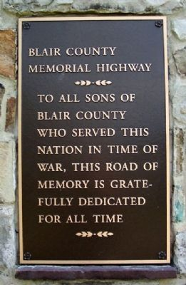 Blair County Memorial Highway Marker image. Click for full size.