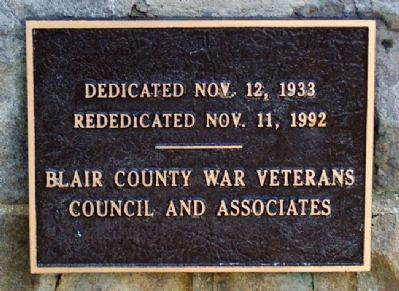 Blair County Memorial Highway Dedication Marker image. Click for full size.