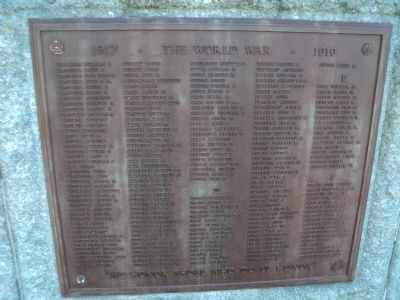 Norwalk World War I Veterans Plaque C-F image. Click for full size.