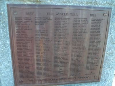 Norwalk World War I Veterans Plaque F-I image. Click for full size.